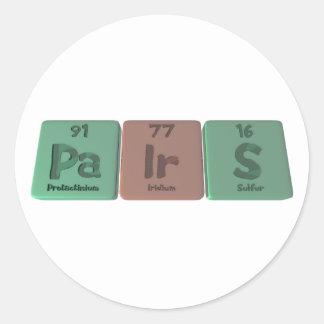 Pairs-Pa-Ir-S-Protactinium-Iridium-Sulfur.png Round Sticker