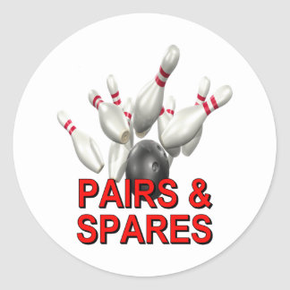 Pairs & Spares Bowling Sticker