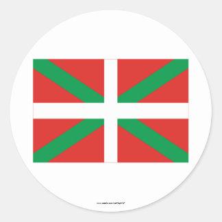 País Vasco (Euskadi) flag Classic Round Sticker