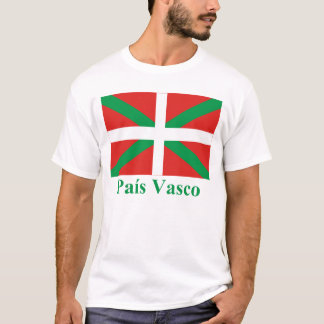 País Vasco (Euskadi) flag with name T-Shirt