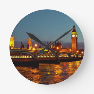 Paisaje Londres del reloj Round Clock