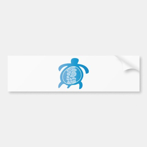 Paisely-Shell-Turtle Bumper Stickers