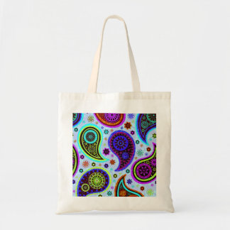 Paisley 2 0-Light Background Canvas Bags