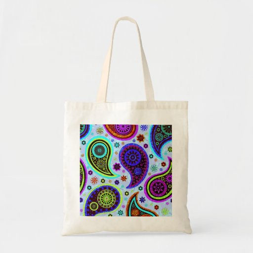 Paisley 2.0-Light Background Canvas Bags