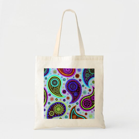 Paisley 2.0-Light Background Tote Bag