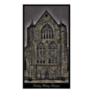Paisley Abbey, Glasgow, Scotland Poster