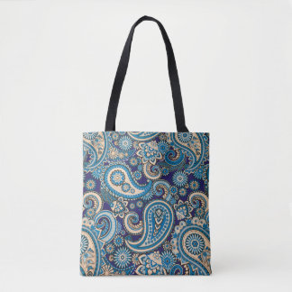 Paisley abstract pattern tote bag