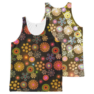 Paisley All-Over Print Tank Top