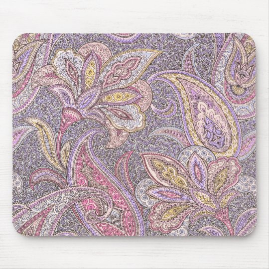 Paisley and flower pattern mouse mat