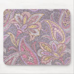 Paisley and flower pattern mouse pad