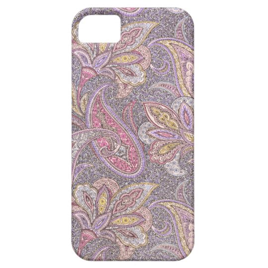 Paisley and flowers pattern barely there iPhone 5 case