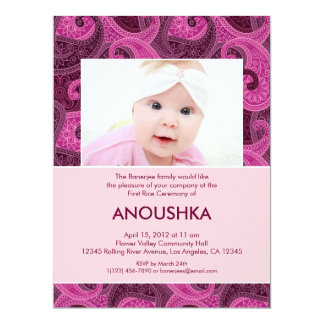 Paisley Annaprashan (First Rice) Invitation