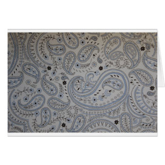 Paisley background card