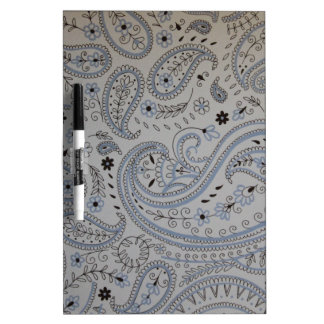 Paisley background dry erase board