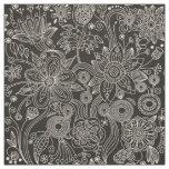 Paisley Background, Paisley Motif - Black White Fabric