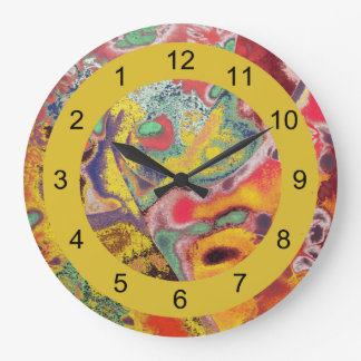 Paisley-Backward Clock for Unusual People