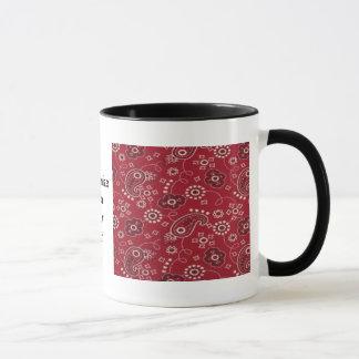 Paisley Bandana Design 2 Image Ringer Mug