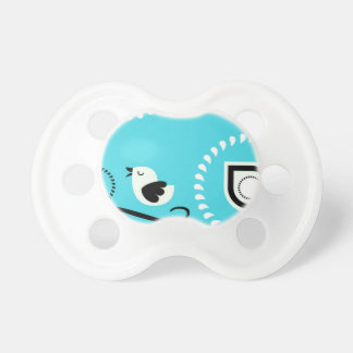 Paisley Blue Baby Paci With Bird Design Dummy