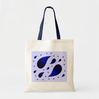 Paisley Blue Tote Bag