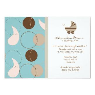 Paisley & Buggy Baby Shower Invitation