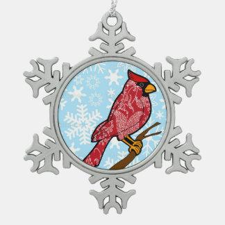 Paisley Cardinal Snowflake ornament
