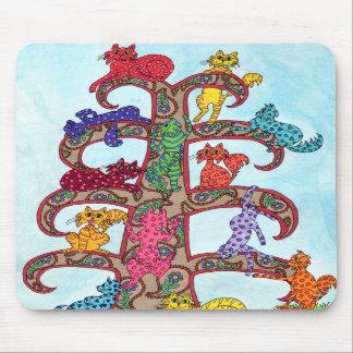 Paisley Cat Tree of Life Mousepads