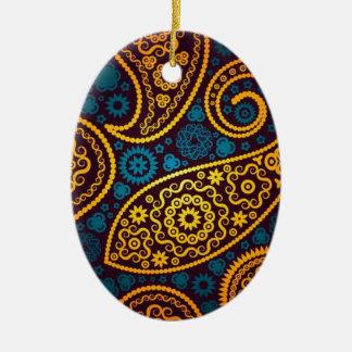 Paisley Ceramic Oval Decoration