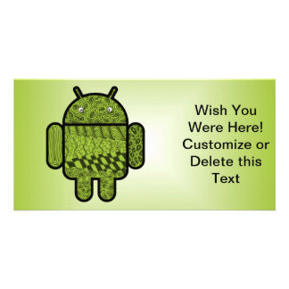 Paisley Character for the Android™ Robot Photo Card Template