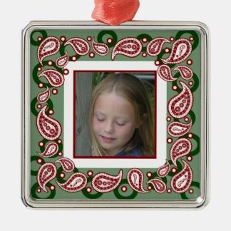 Paisley Christmas Photo Ornament