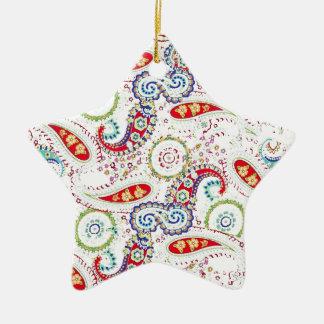 Paisley Christmas Star Ornament
