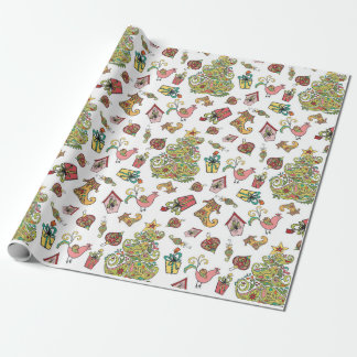 Paisley Christmas Wrap Wrapping Paper
