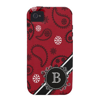 Paisley Country Style Personalized Initial Case Case-Mate iPhone 4 Cases