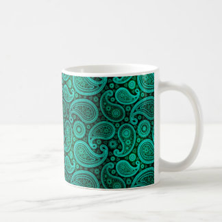 Paisley Deluxe | teal Coffee Mug