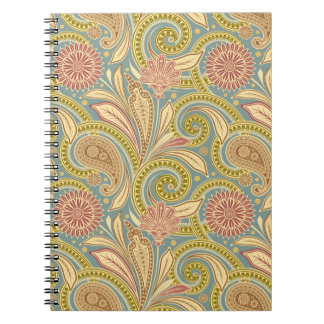 Paisley design notebook