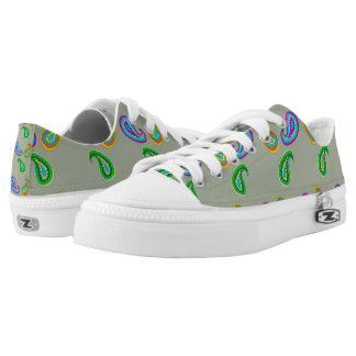 Paisley Design on Low Top Sneaker Shoes Printed Shoes