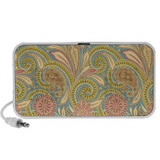 Paisley design travelling speakers