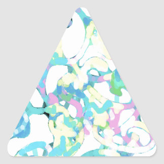 Paisley Design Triangle Stickers