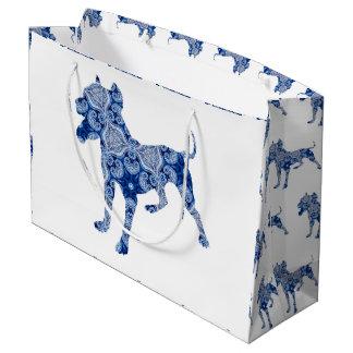 Paisley Dog No. 1 | Blue Gift Bag