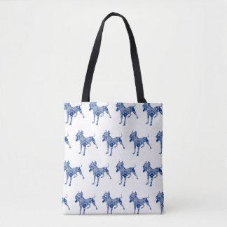 Paisley Dog No. 1   Blue   Tote Bag