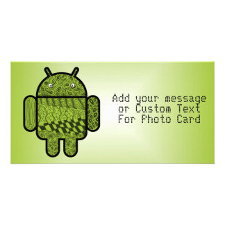 Paisley Doodle Character for Android™ Customised Photo Card