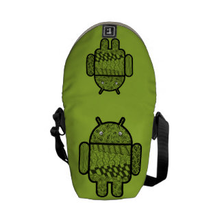 Paisley Doodle Character for the Android™ robot Commuter Bags