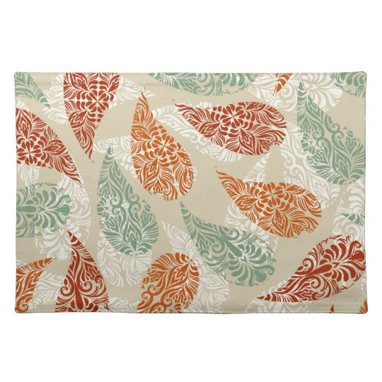 Paisley Earth Tones Placemat