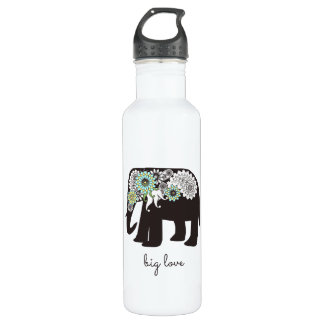 Paisley Elephant Elegant Cute Animal Love Custom 710 Ml Water Bottle
