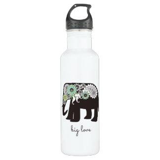 Paisley Elephant Love Girly Cute Personalised 710 Ml Water Bottle