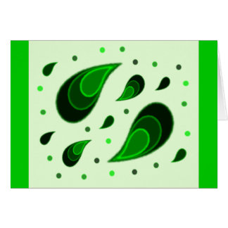 Paisley Emerald Card