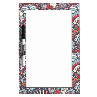 Paisley Floral Doodle Pattern Dry Erase Board
