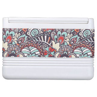 Paisley Floral Doodle Pattern Igloo Cool Box