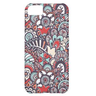 Paisley Floral Doodle Pattern iPhone 5C Case