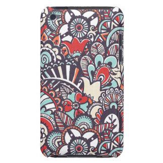 Paisley Floral Doodle Pattern iPod Case-Mate Cases