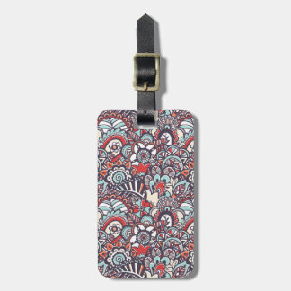 Paisley Floral Doodle Pattern Luggage Tag